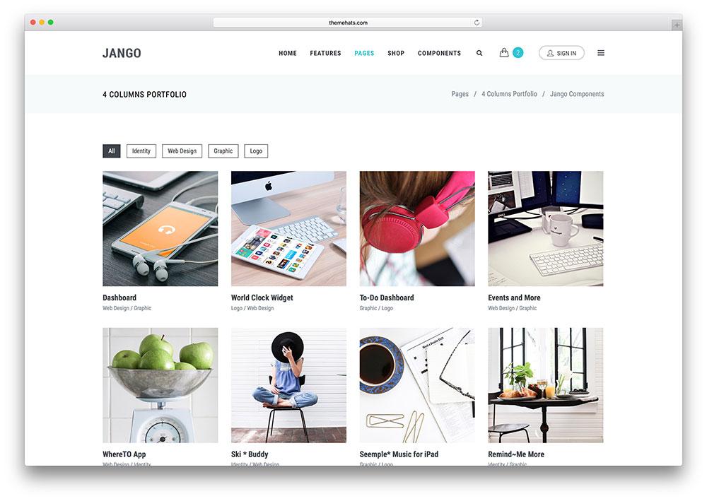 jango-creative-minimal-portfolio-site-template