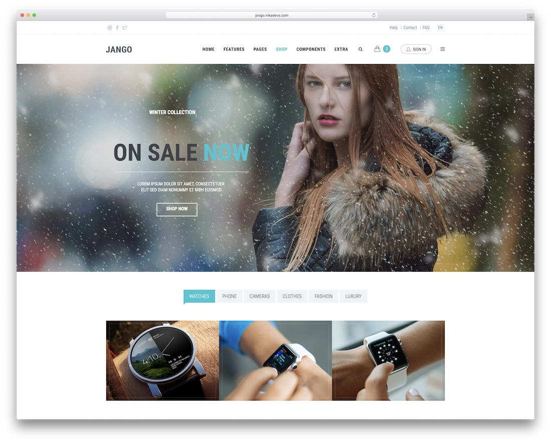 jango flexible drupal ecommerce template