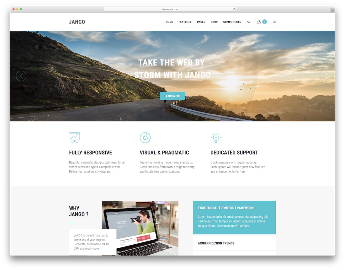 jango mobile friendly website template
