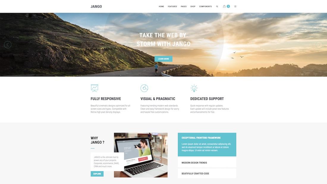 jango mobile-friendly website template