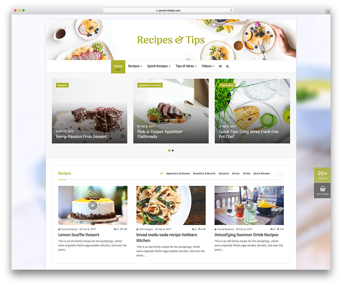 35 awesome food wordpress themes to share recipes 2018 colorlib jannah is a versatile wordpress theme even if it is adaptable for many kinds of purpose a food recipes blog looks like fit very well with this theme forumfinder