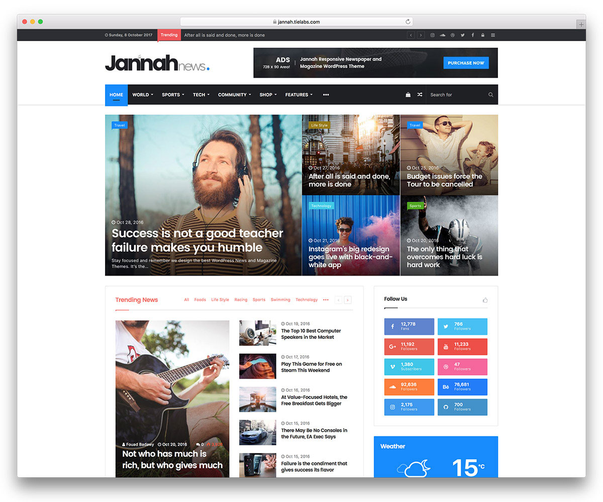 Jannah Is A Newspaper Magazine News WordPress Theme It S Flexible And Covers Diffe Kinds Of Formats People Want Information Fast