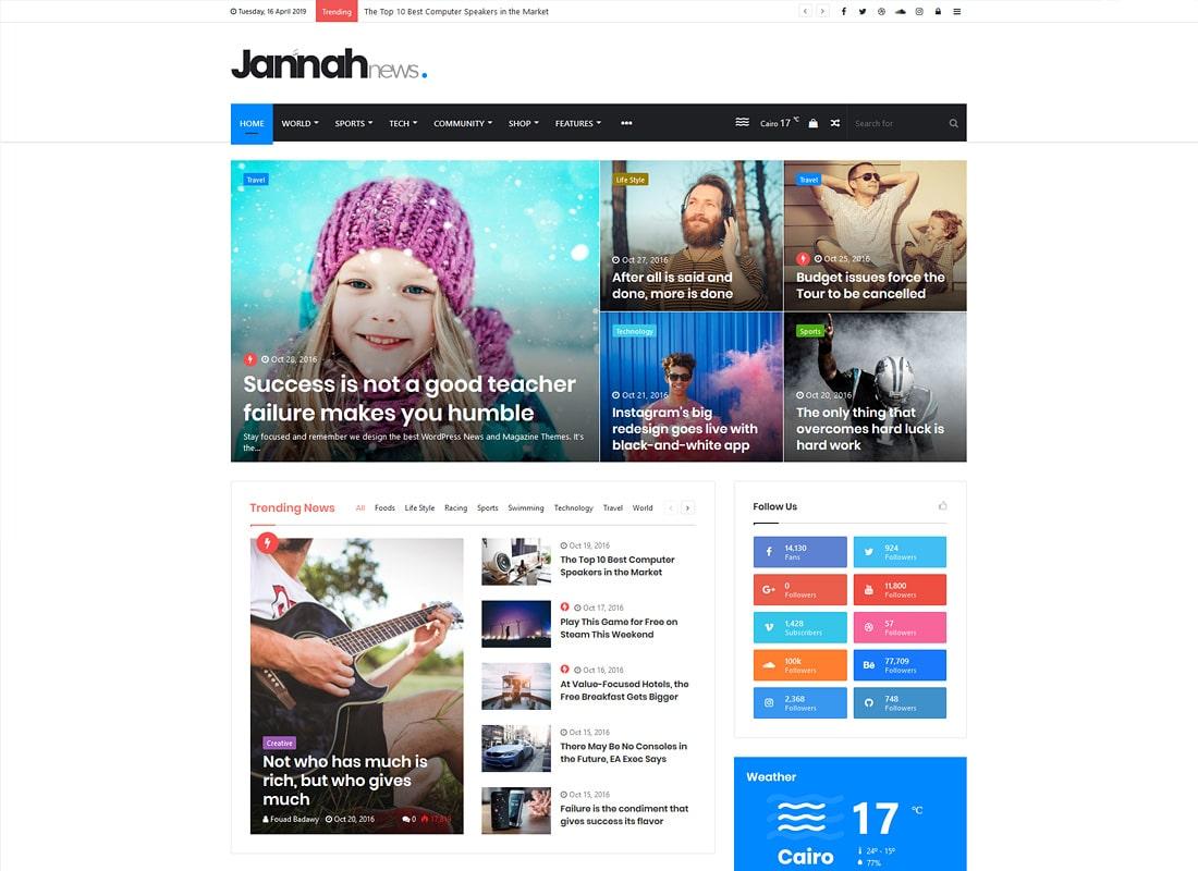 Jannah News | Newspaper Magazine News AMP BuddyPress WordPress Theme