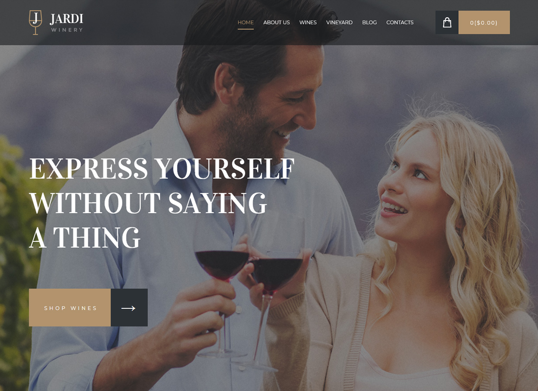 Jardi - Winery, Vineyard & Wine Shop WordPress Theme