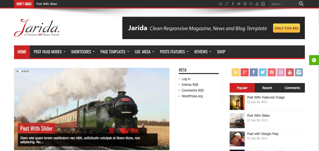 Jarida - news theme with RTL support