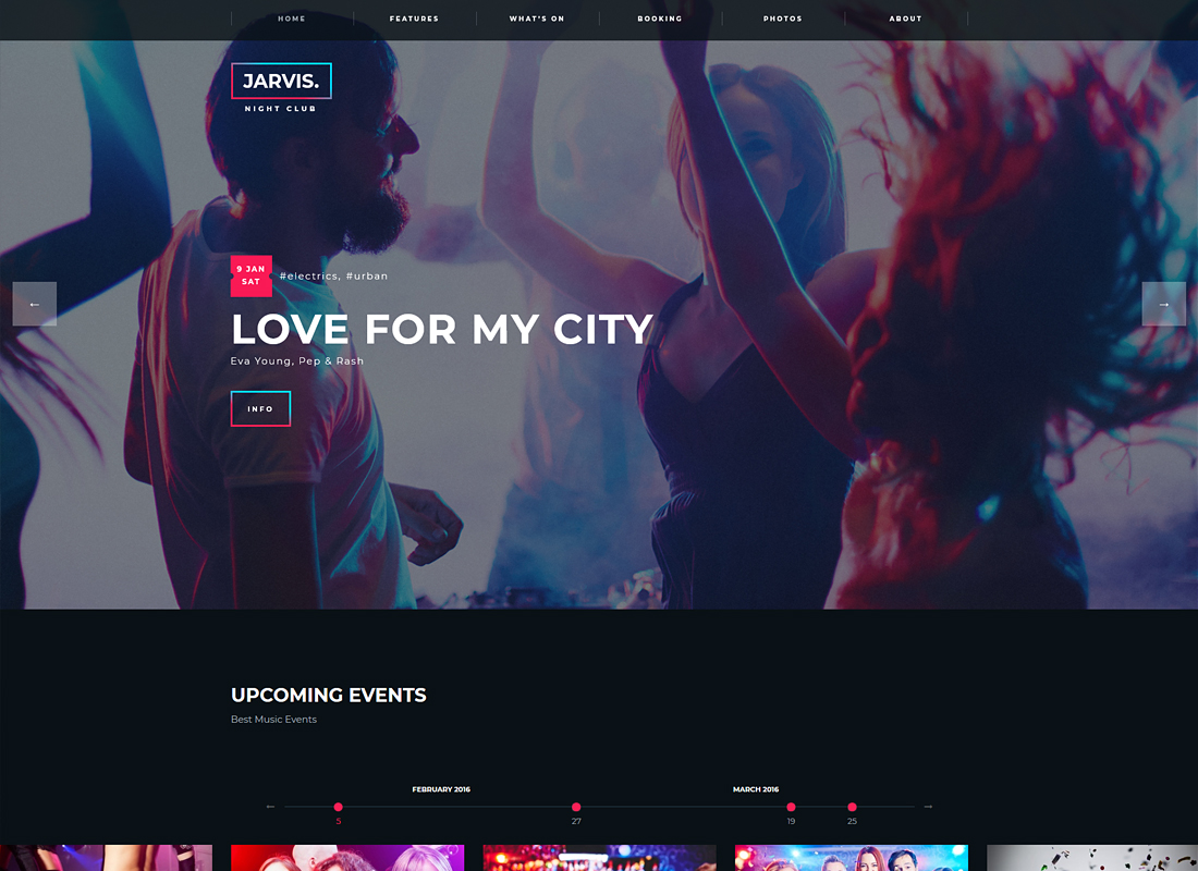 Jarvis   Night Club, Concert, Festival WordPress Theme