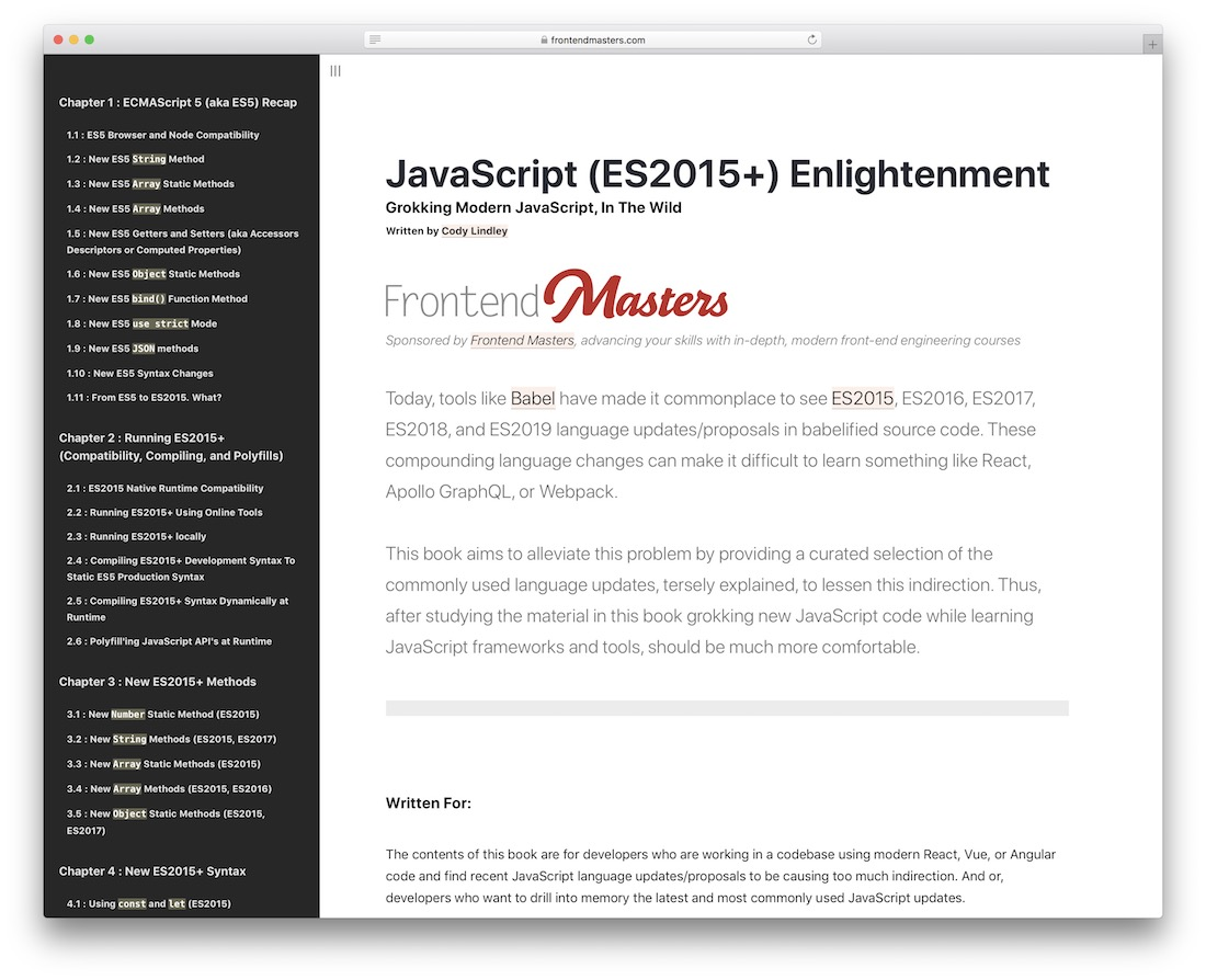 javascript enlightenment learning resource