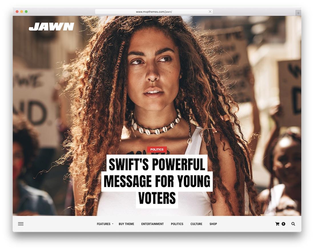 jawn wordpress review theme