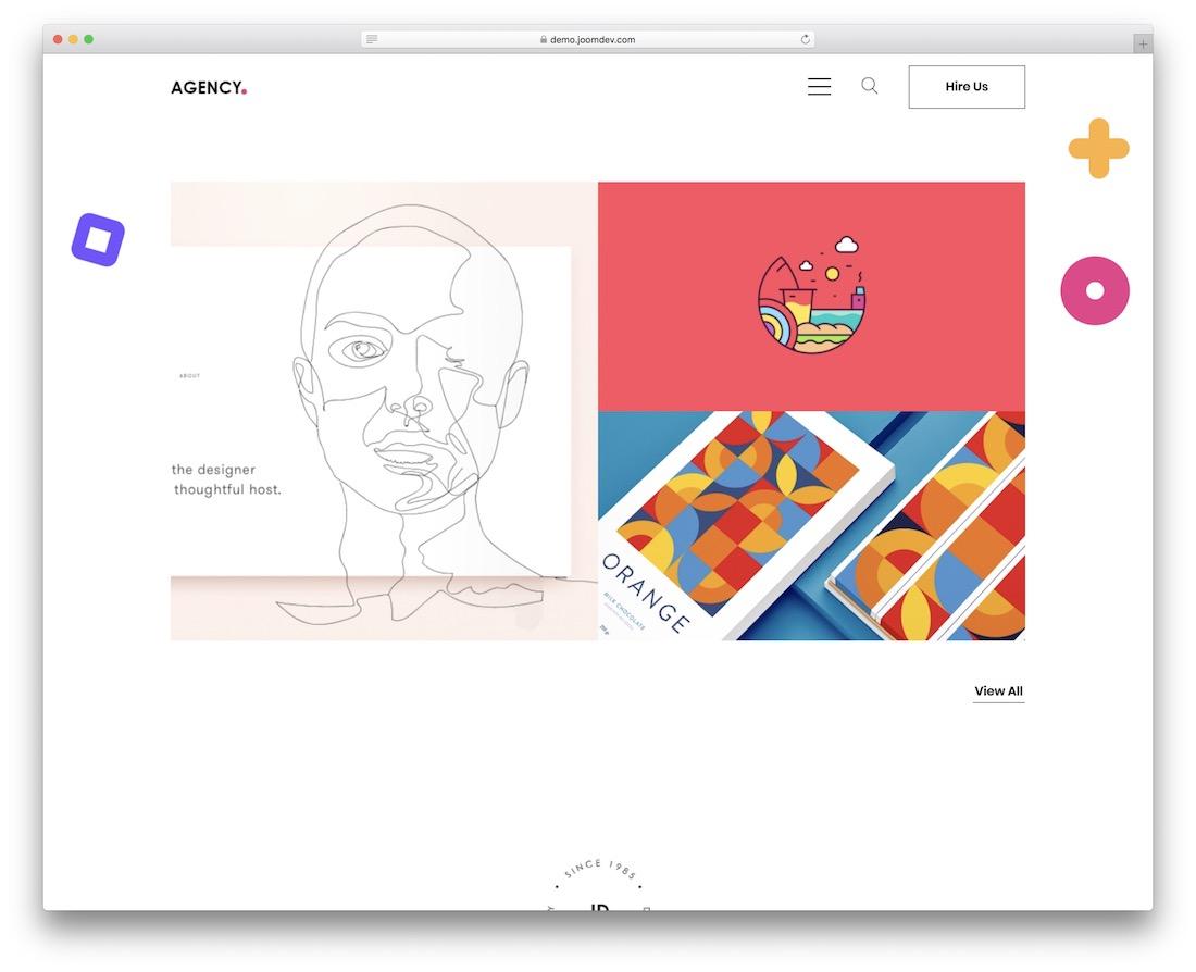 jd agency joomla portfolio template