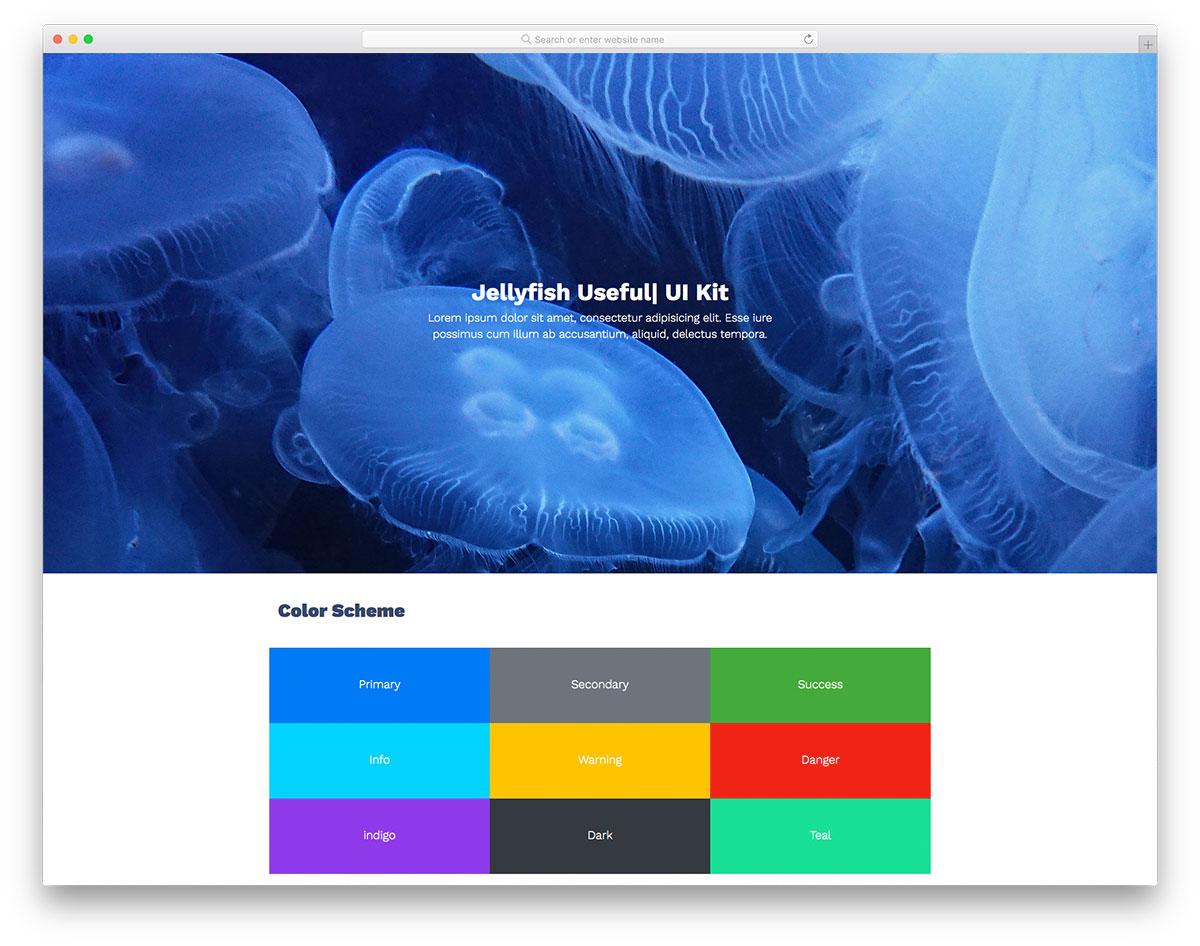 Jellyfish - Ui Kit - Free Elegant Ui Kit 2019