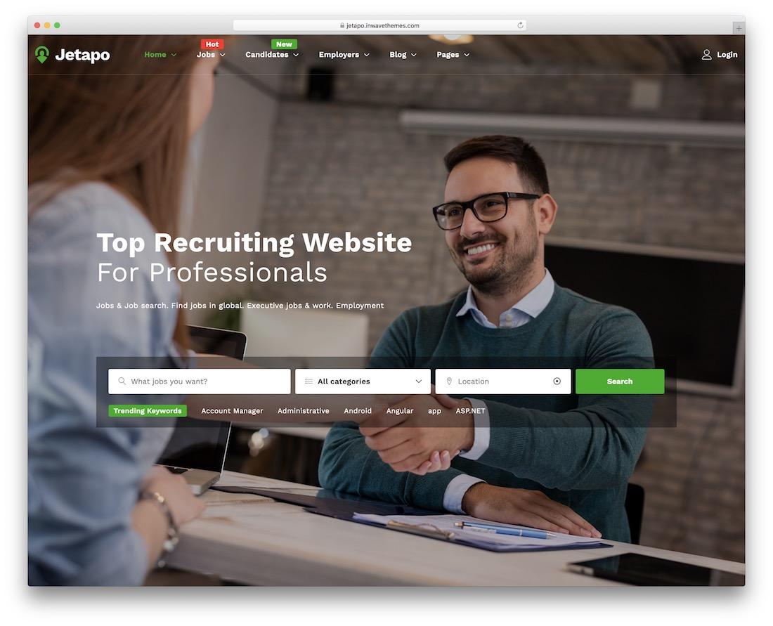 jetapo job board website template