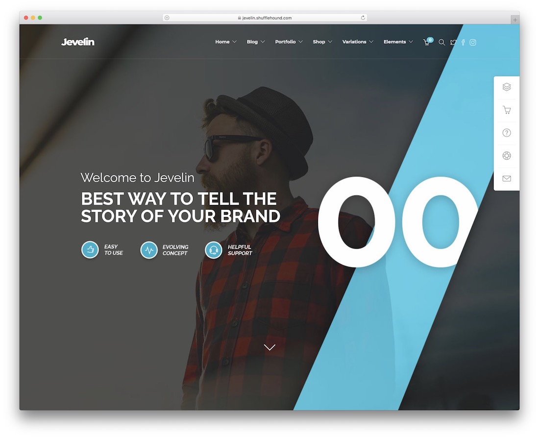 jevelin artist website template