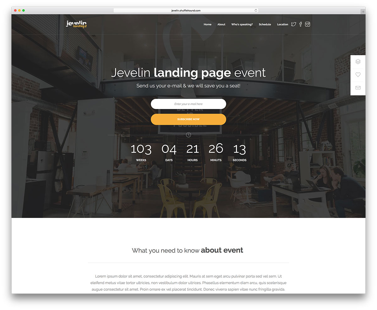 jevelin-coming-soon-wordpress-website-theme