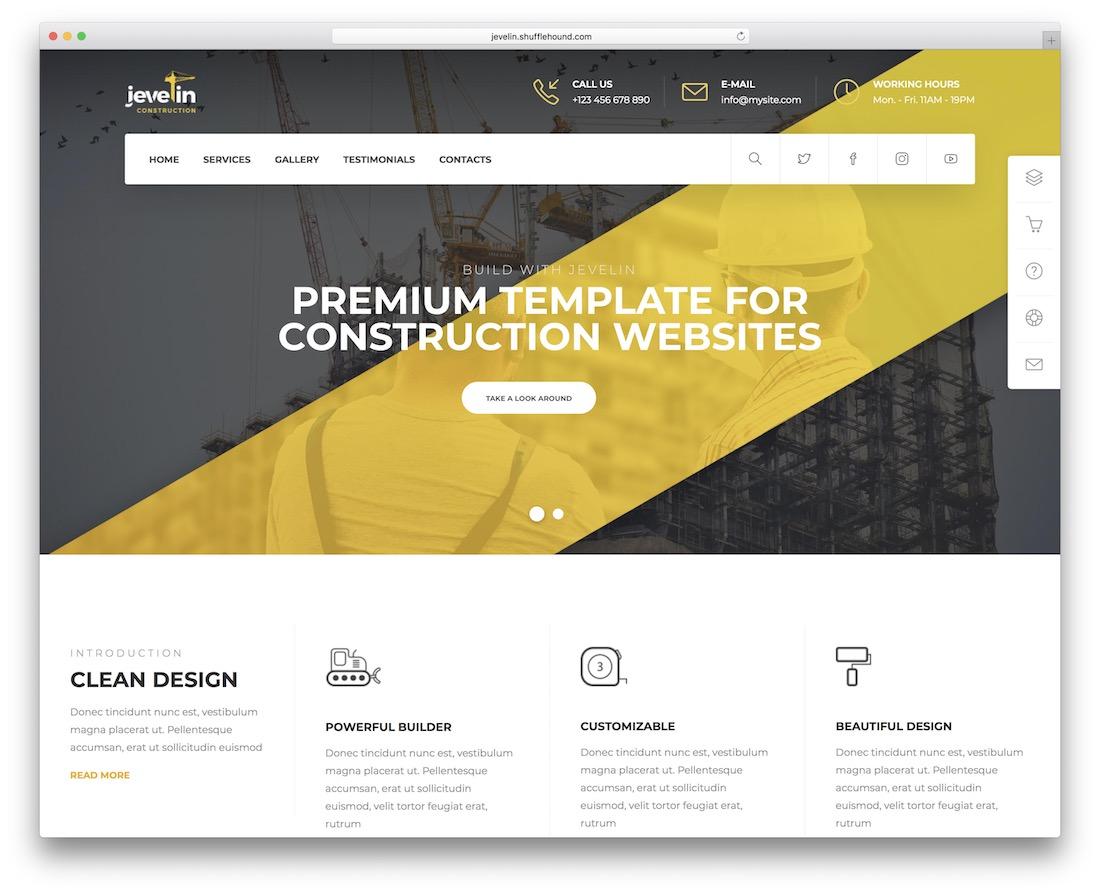 jevelin construction company template