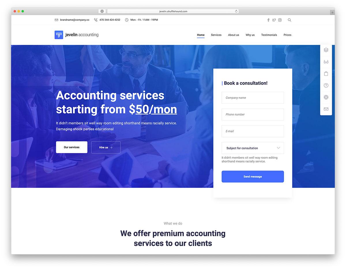 Best Accounting WordPress Themes