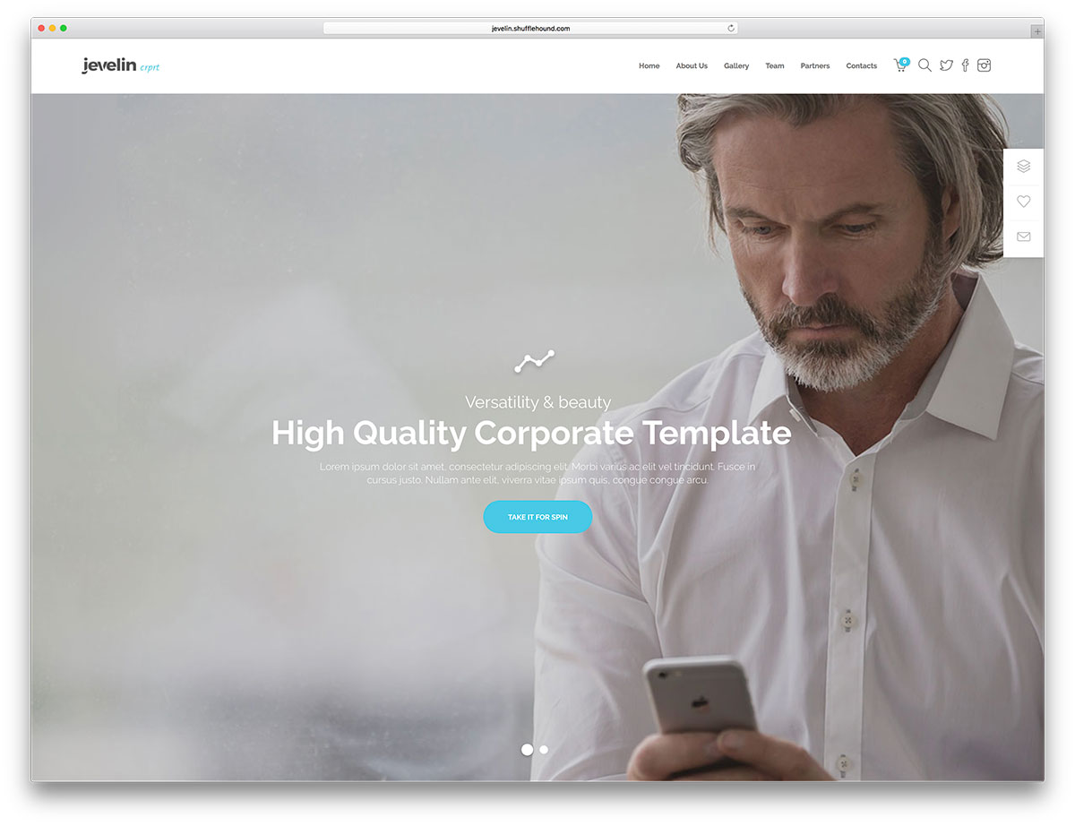 minimal business WordPress theme