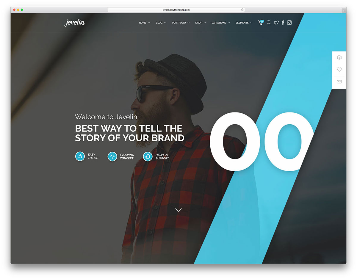 jevelin creative agency wordpress template - Top 20 WordPress Themes for Freelancers, Programmers, Graphics Designers and More 2018