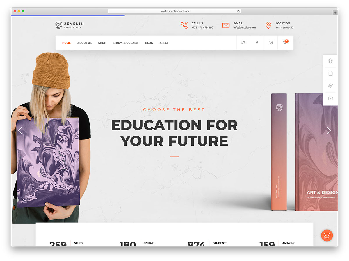 jevelin- theme wordpress educatif