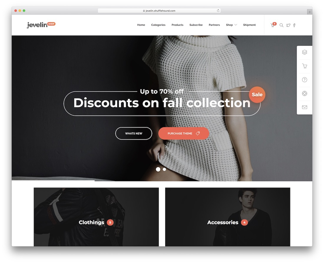 jevelin ecommerce website template