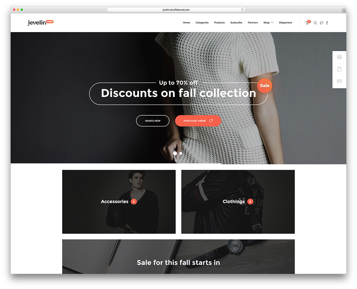 jevelin Fashion WooCommerce wordpress theme