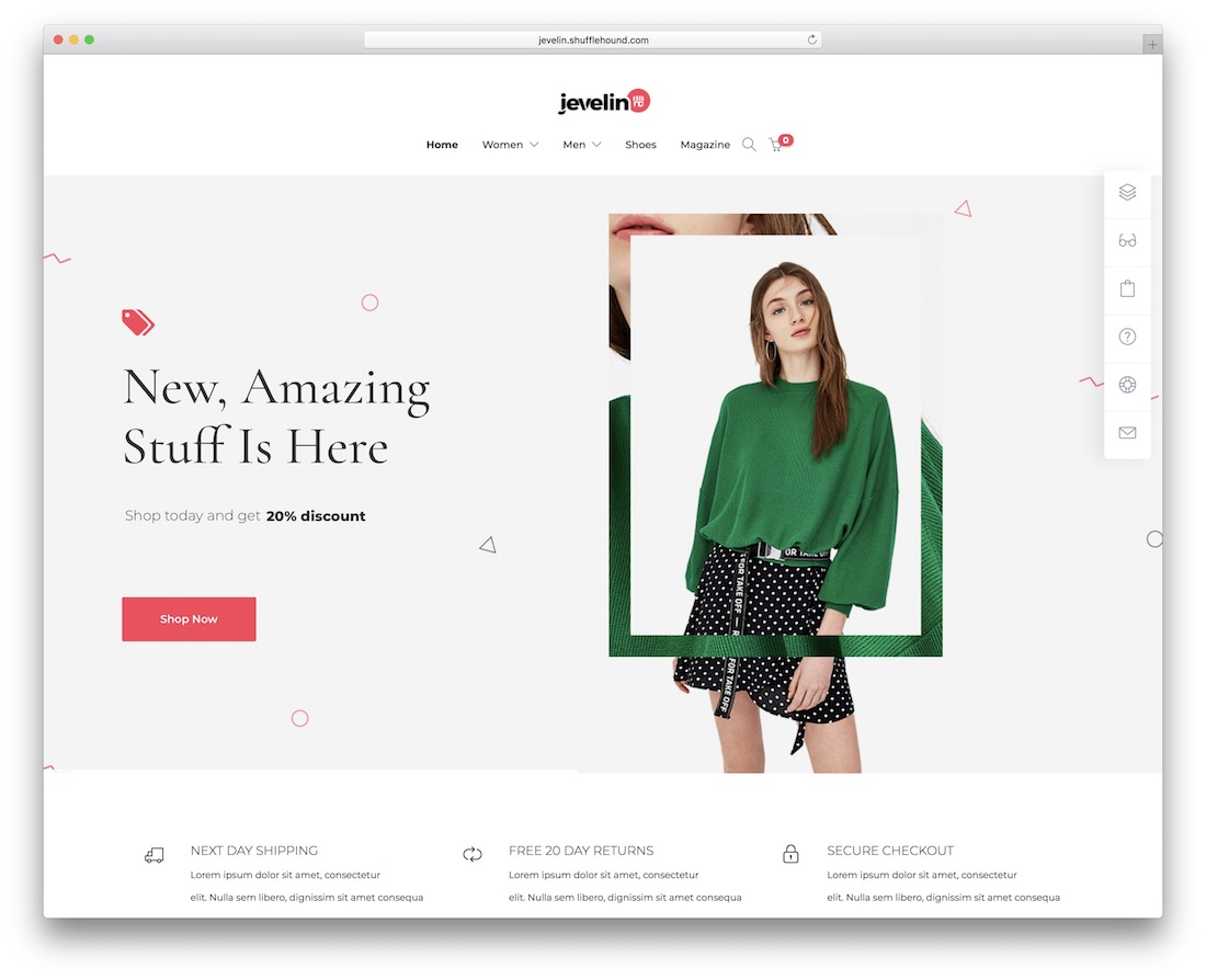 jevelin fashion ecommerce theme