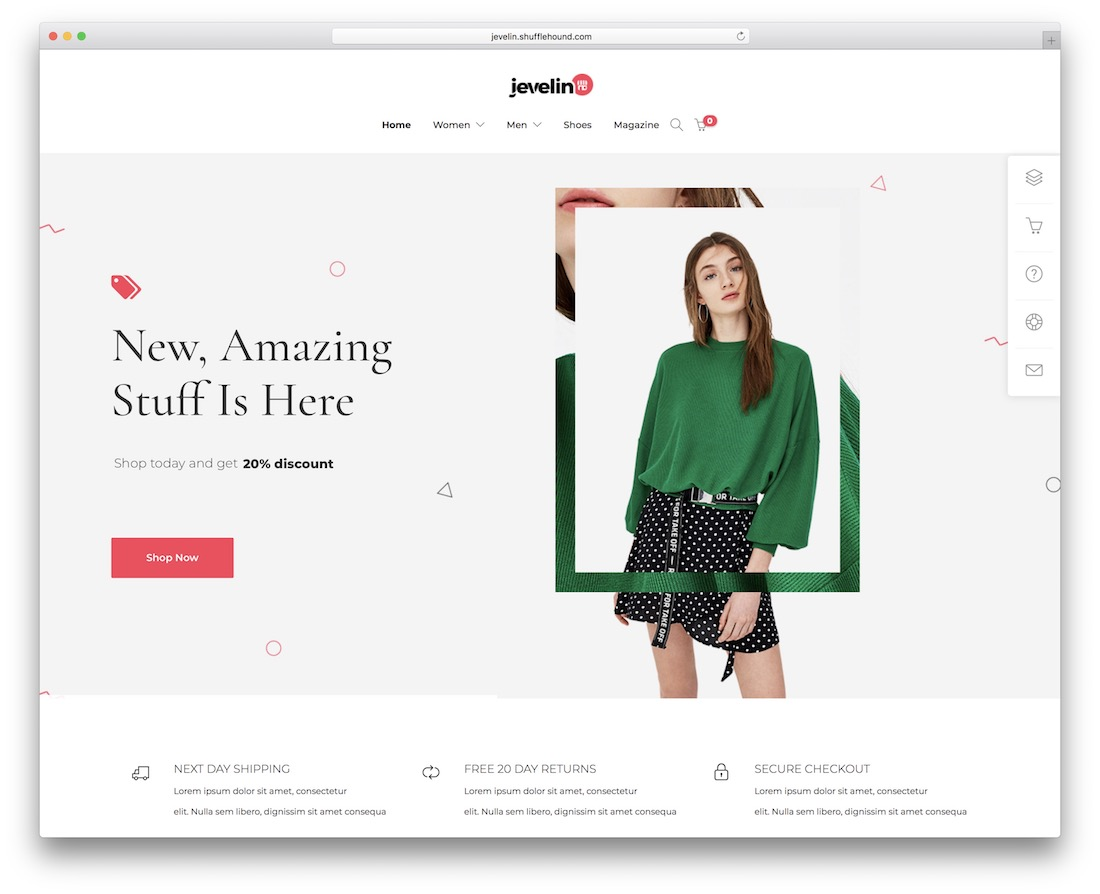 jevelin fashion website template