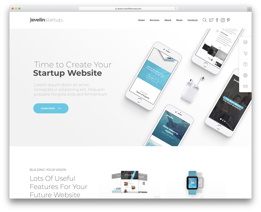 jevelin gaming website template