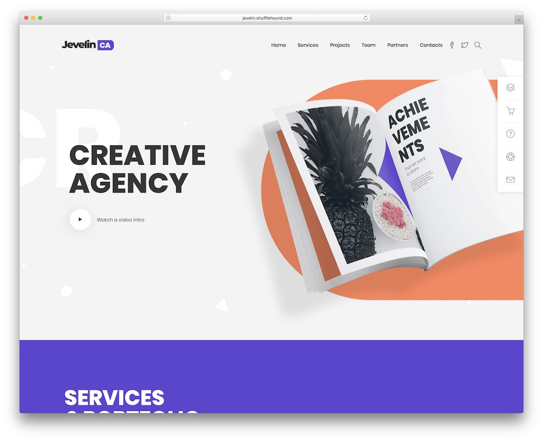 jevelin graphic design website template