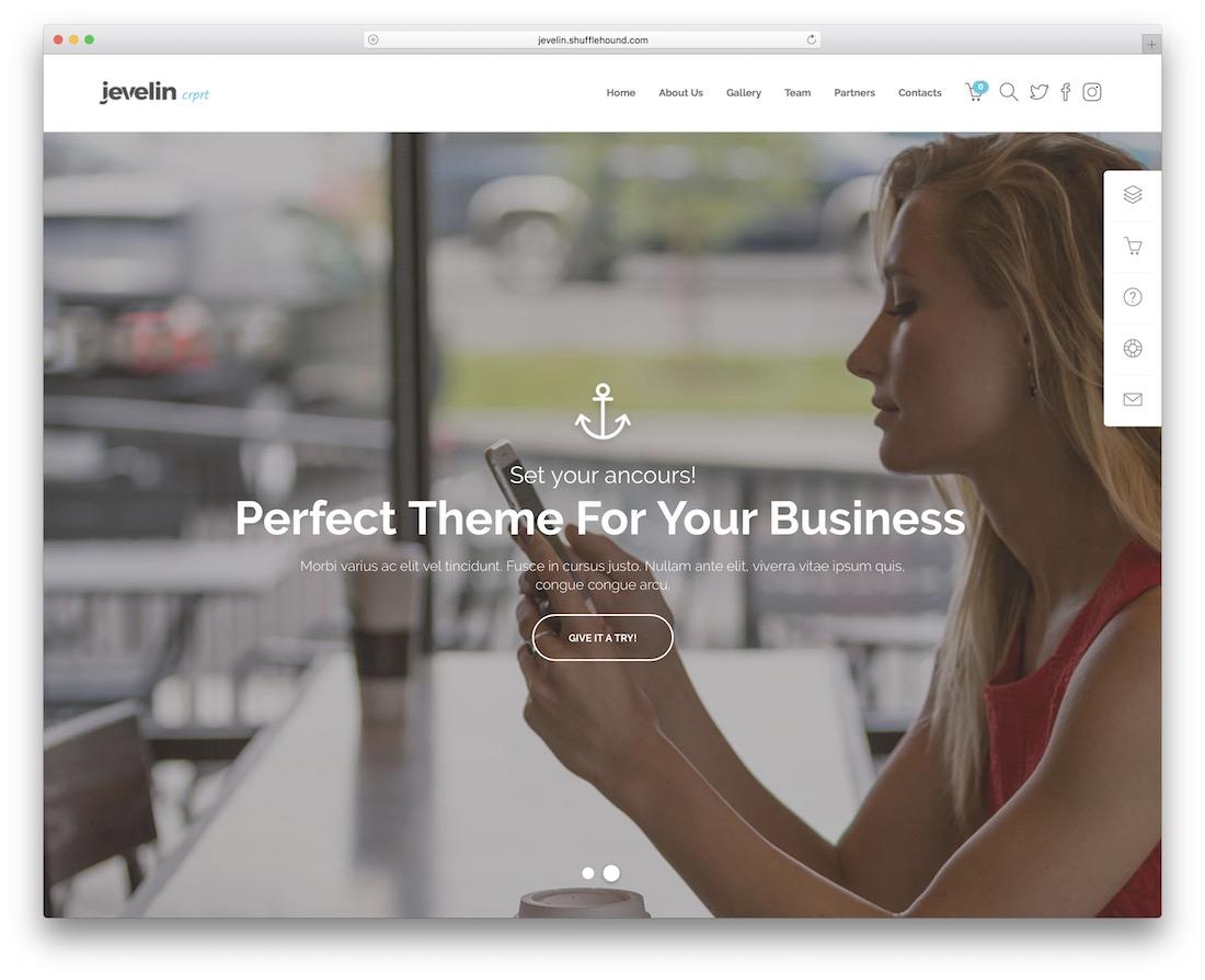 jevelin insurance website template
