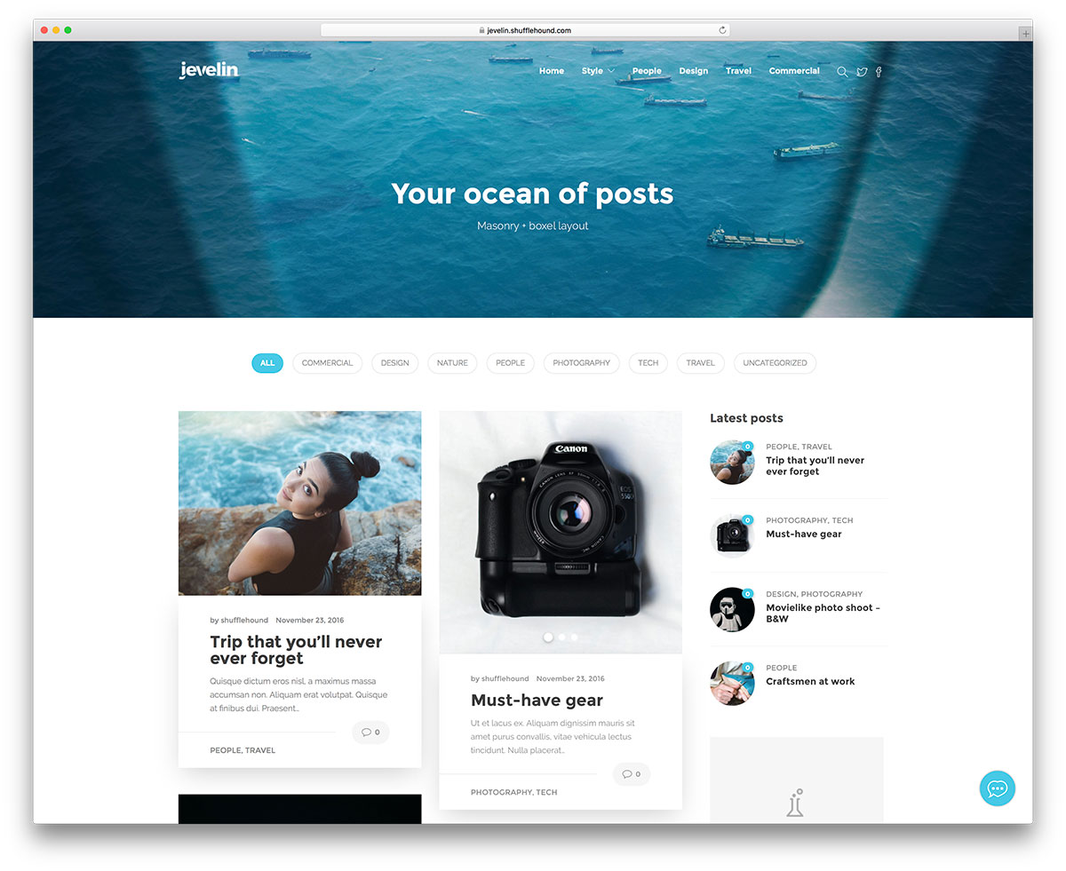 jevelin-minimal-wordpress-blog-theme