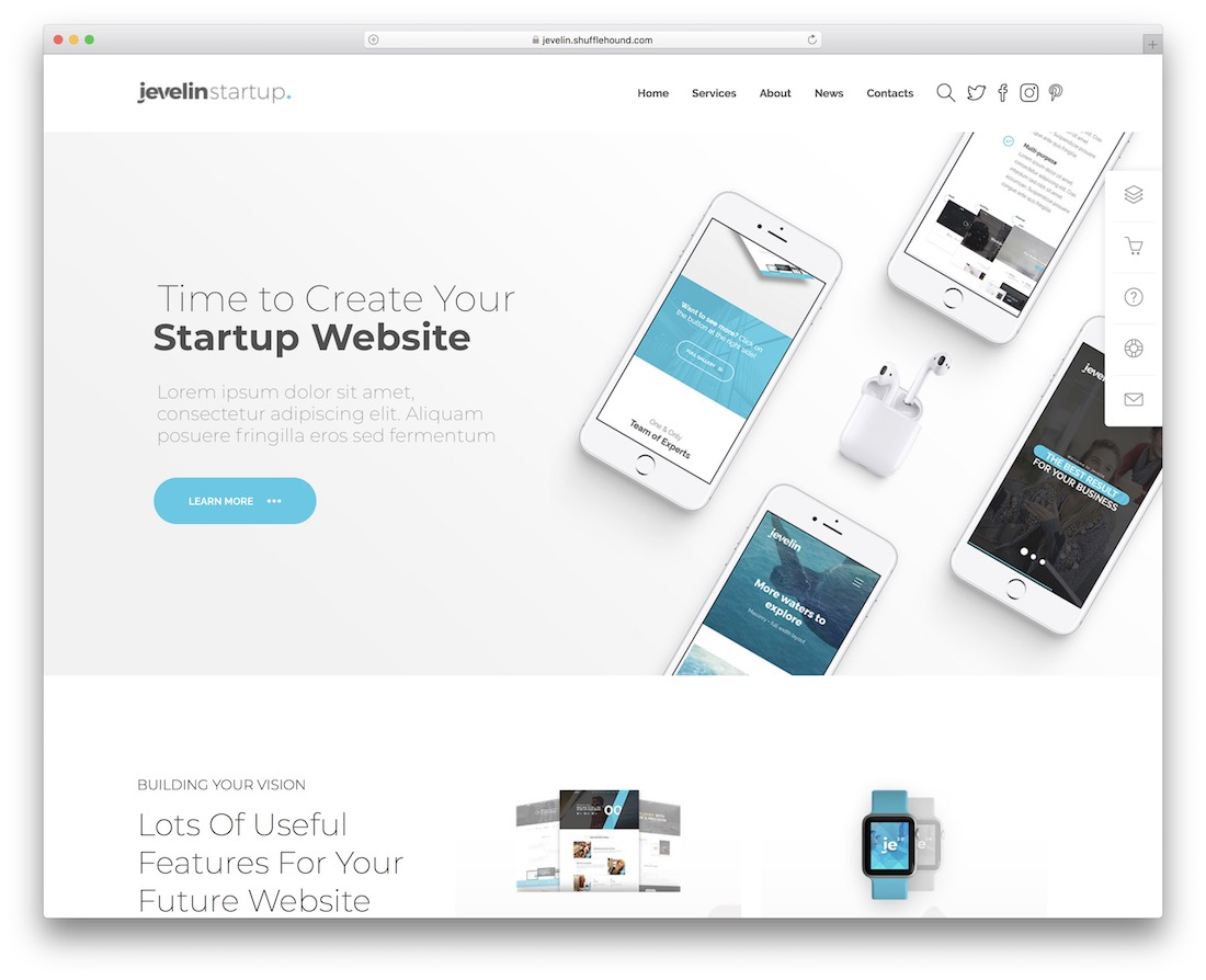 jevelin technology website template