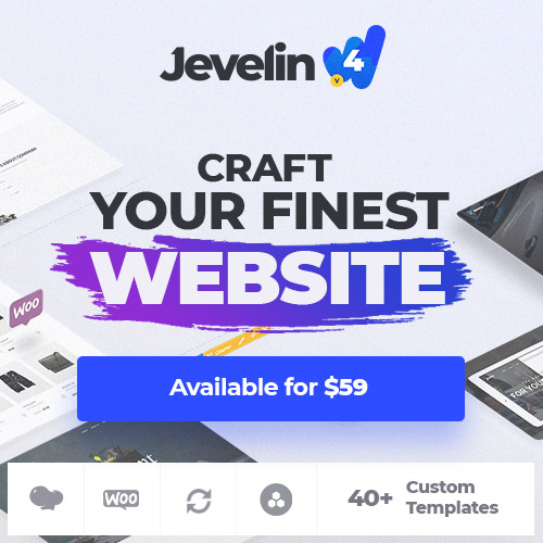 Jevelin WordPress startup theme