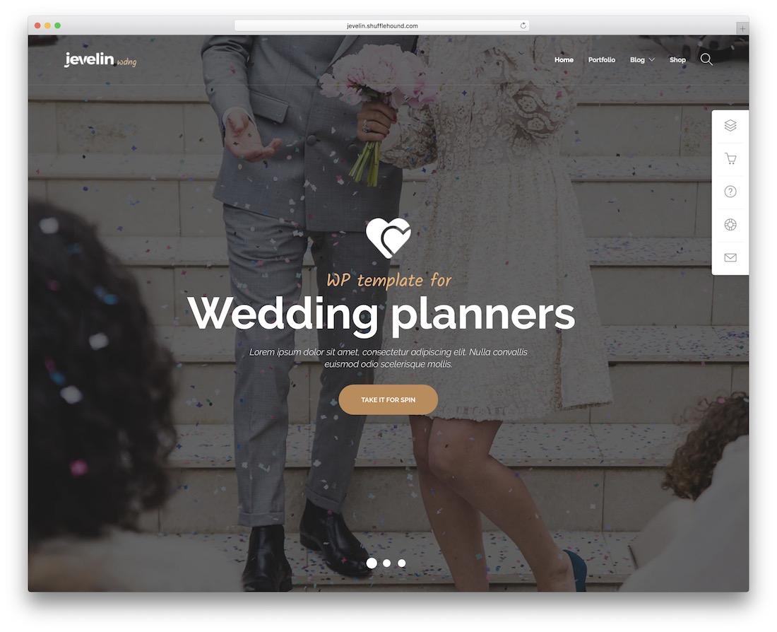 jevelin wedding website template