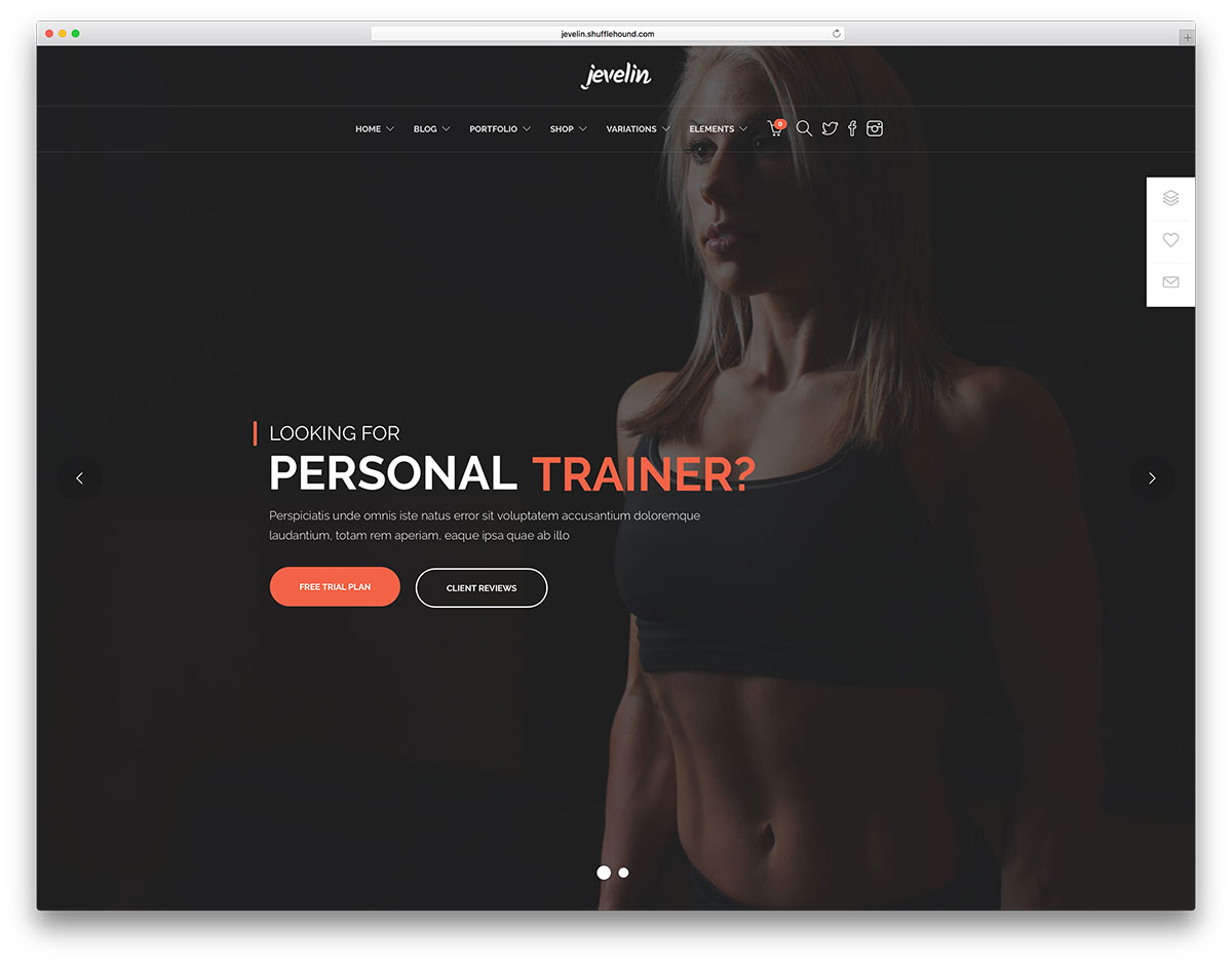 jeveling-personal-trainer-wordpress-theme