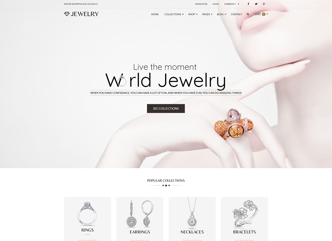 Jewelry | Responsive WordPress Theme
