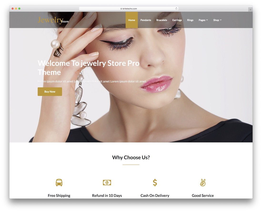 jewelry store free wordpress theme