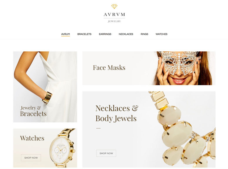 Simple Jewelry WordPress Themes For Fashion And ECommerce Websites 2018