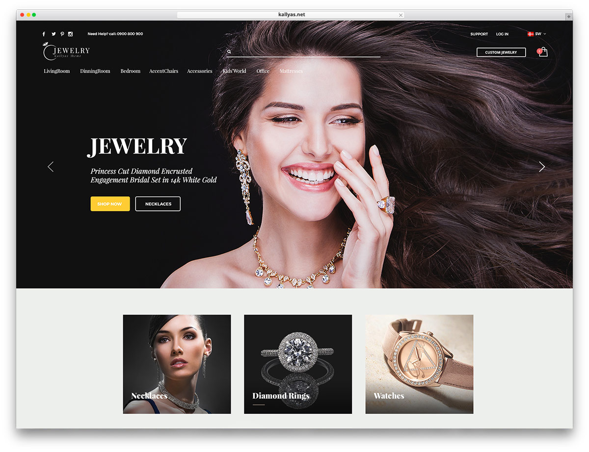 jewelry WordPress themes with eCommerce