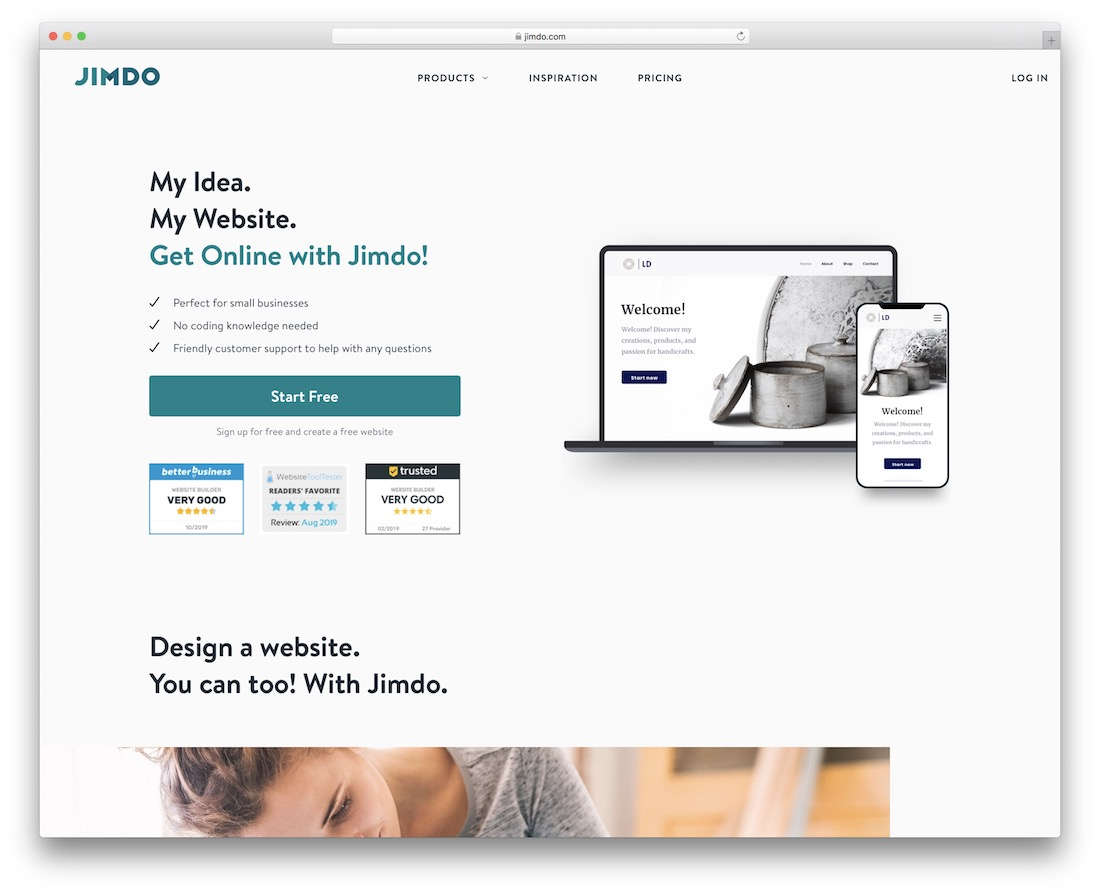 jimdo church website builder