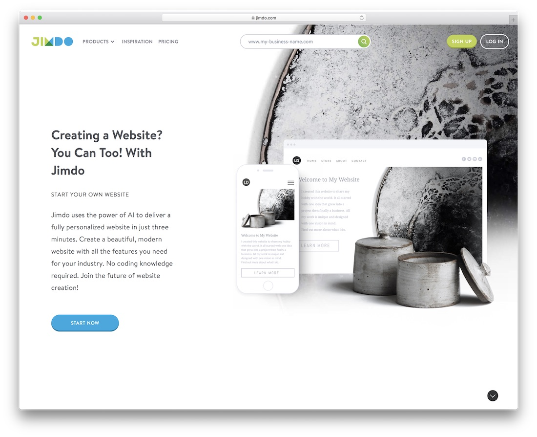 jimdo community website builder