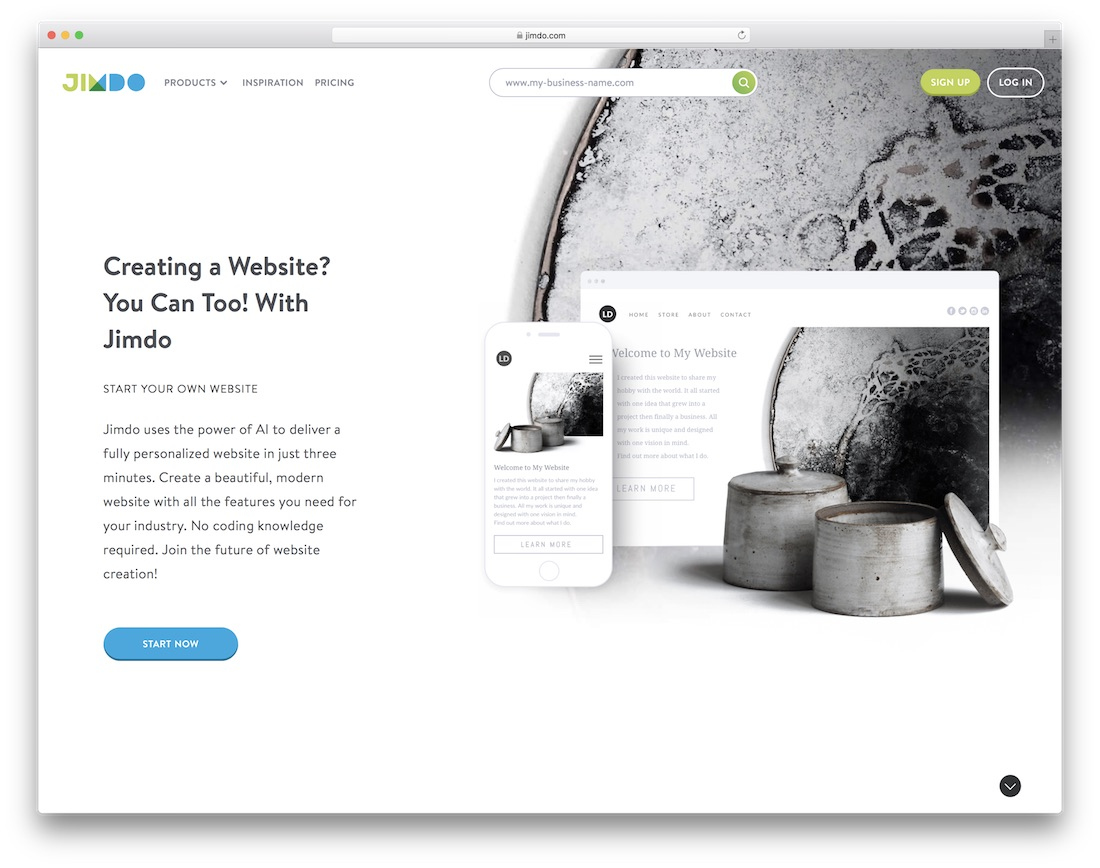 jimdo free website builder