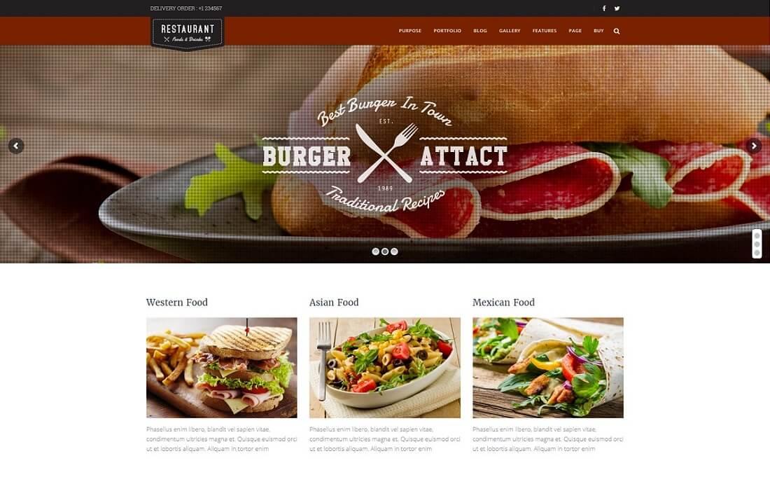 jkreativ catering wordpress theme