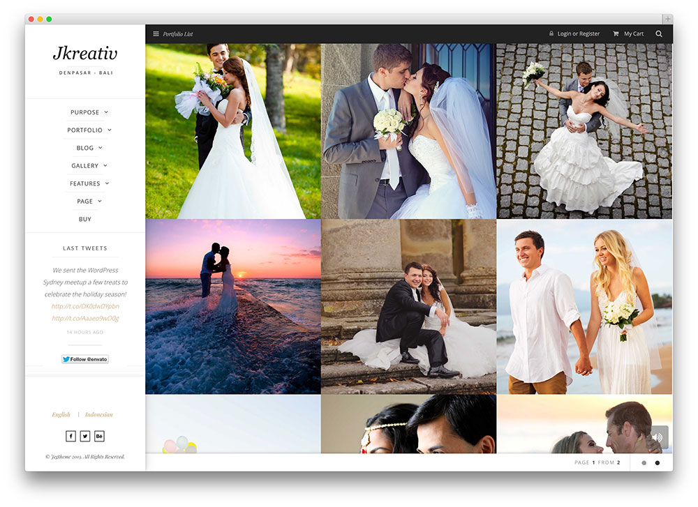 jkreativ romantic parallax photography theme