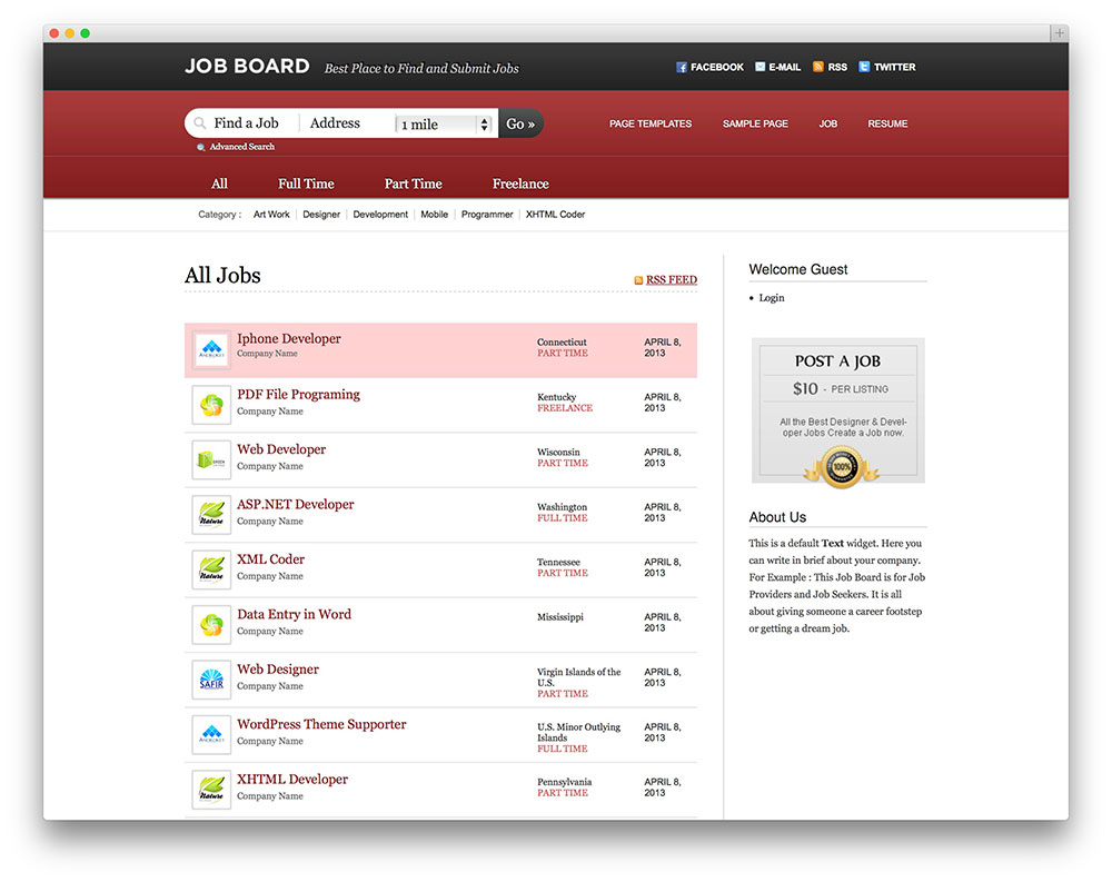 23 Best Job Board Themes And Plugins For Wordpress 2019 Colorlib