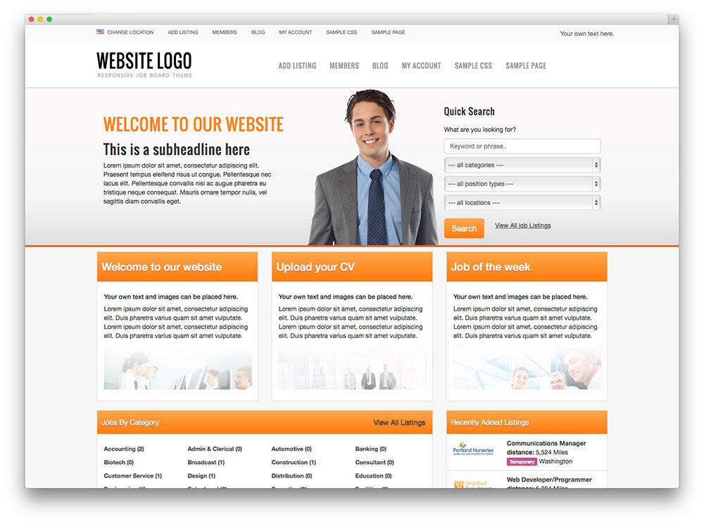 Job Board WordPress Template