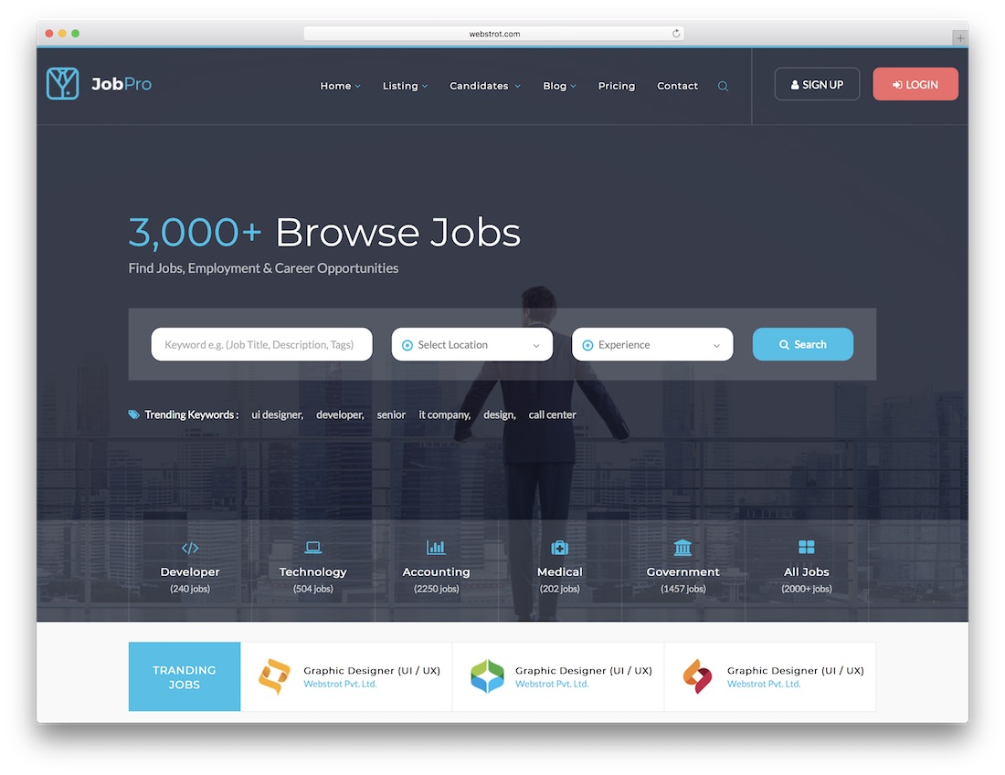 job pro html5 website template