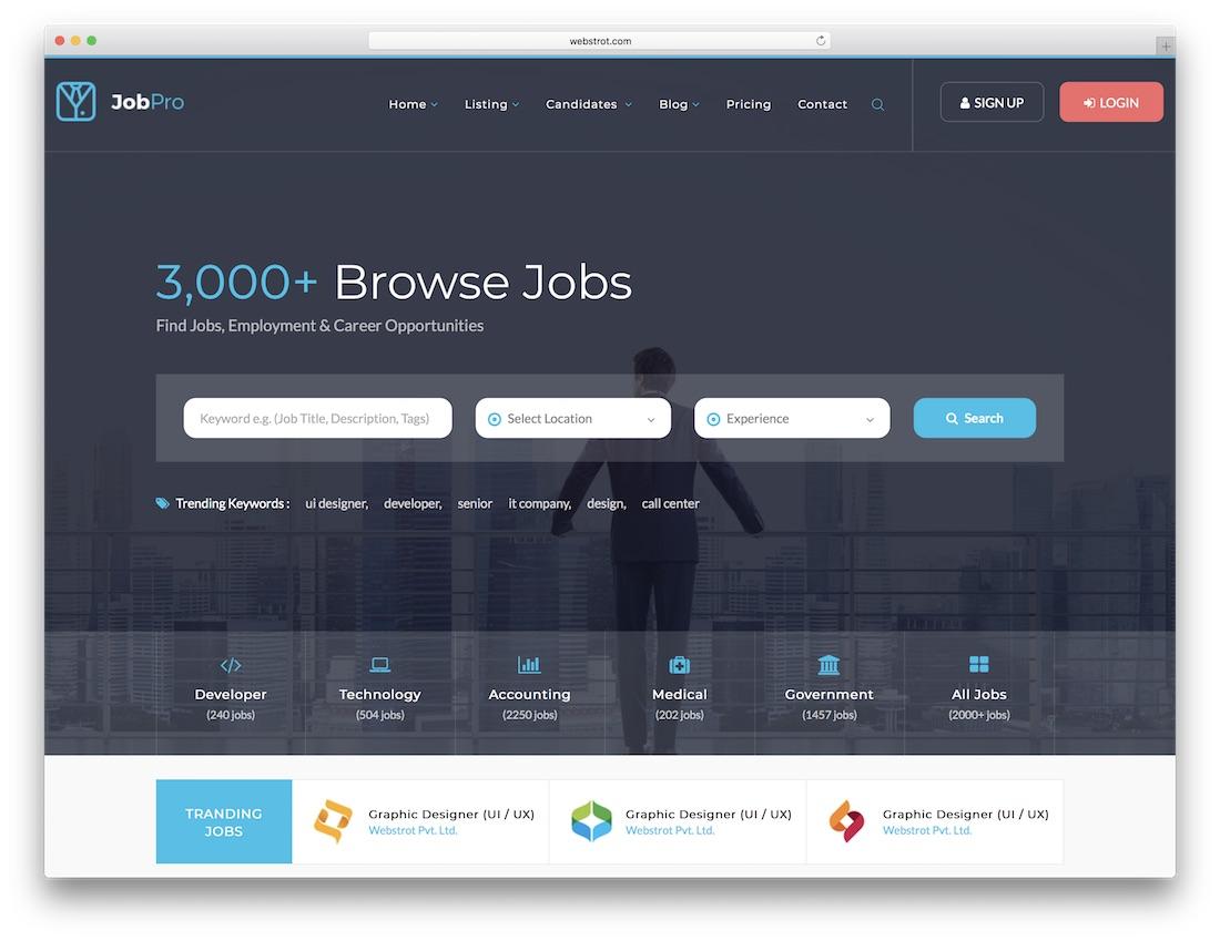 job pro html5 website template
