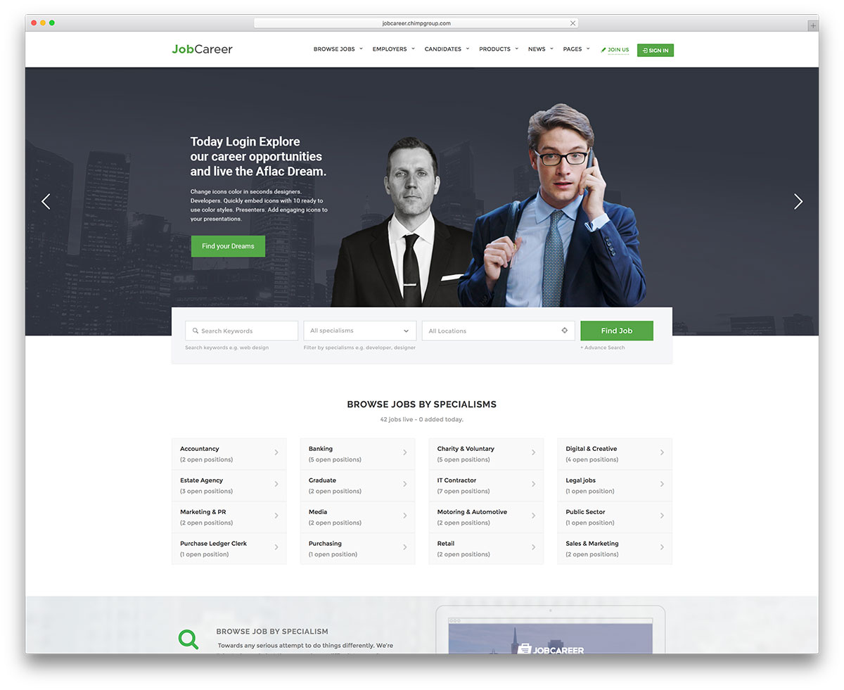 jobcareer-creative-job-board-website-template