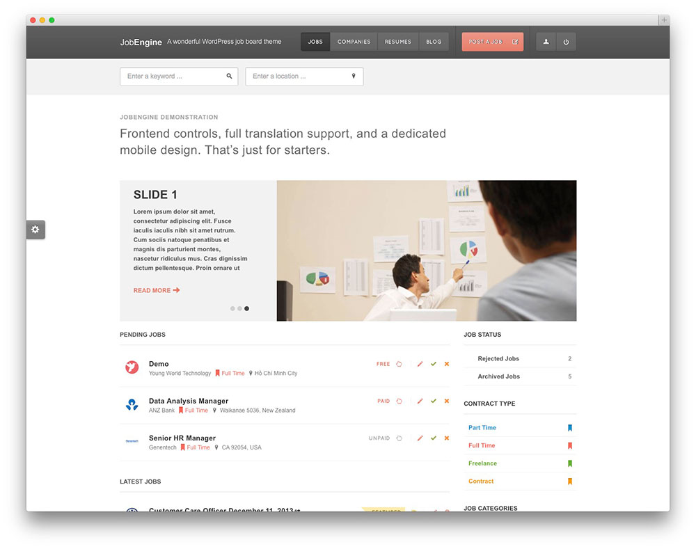 jobengine WordPress theme