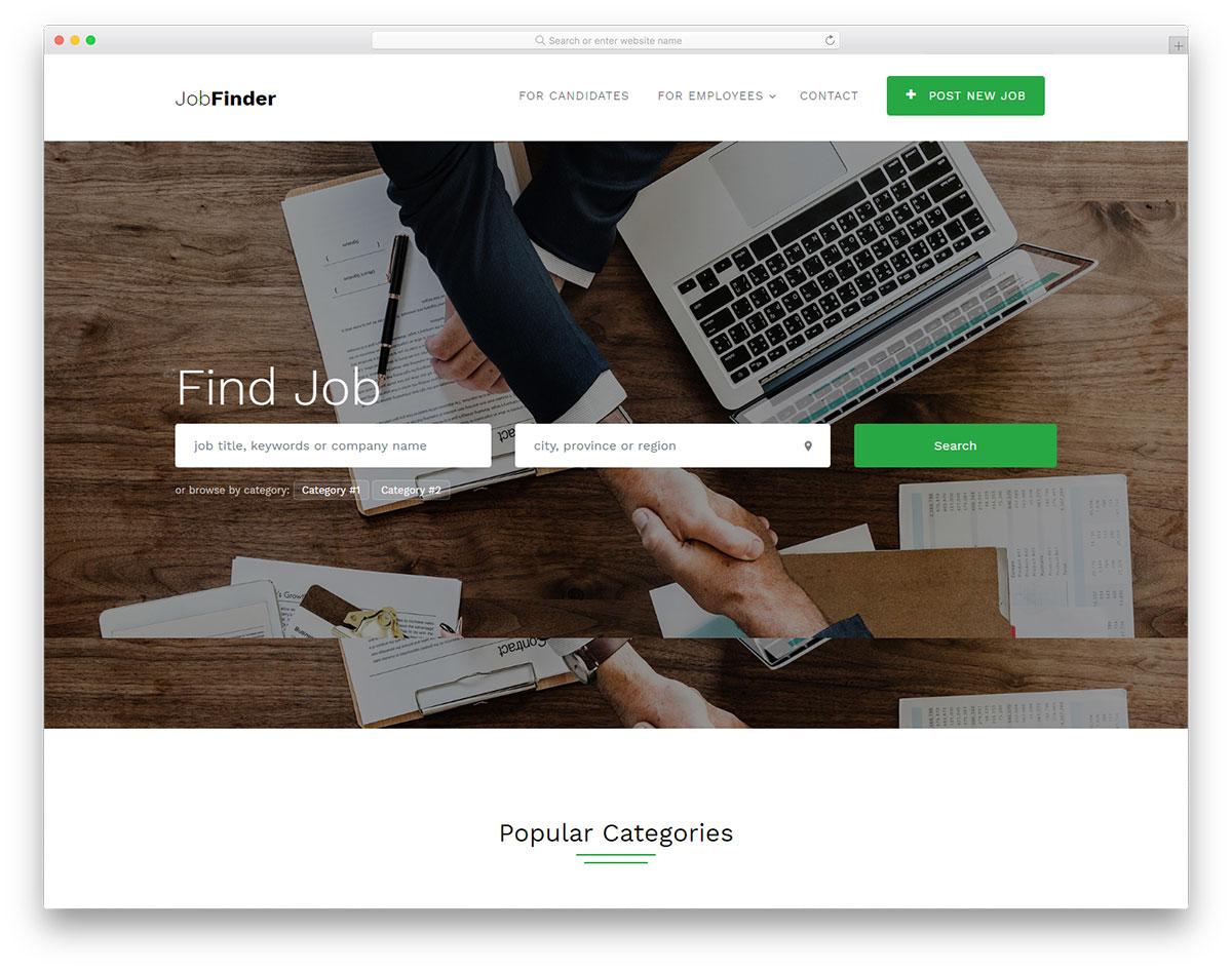 Скачать бесплатно html шаблон Jobfinder